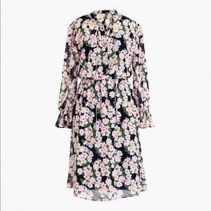 J. Crew Mercantile floral chiffon dress